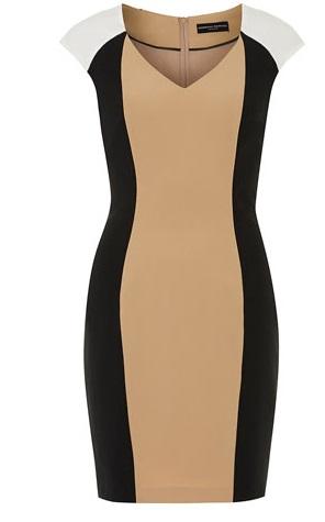 olivia Pope, colorblock dress, camel dress, workwear, chic